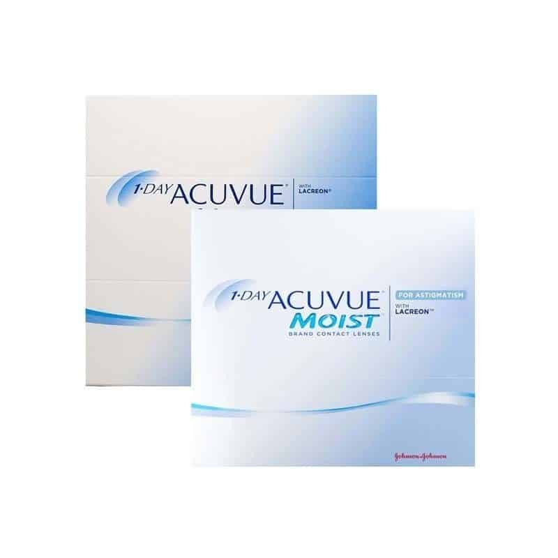 1 Day Acuvue Moist 90 Pack + Astigmatism